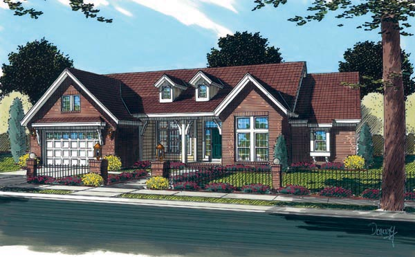 Traditional House Plan 66462 Elevation
