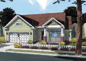 Cottage Craftsman Traditional House Plan 66464 Elevation