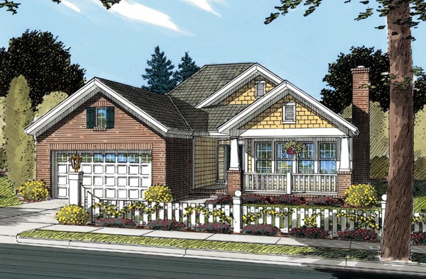 Bungalow Cottage Craftsman House Plan 66466 Elevation