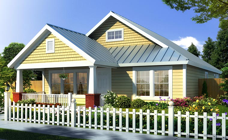 Bungalow, Craftsman, Traditional House Plan 66468 with 3 Beds, 2 Baths Elevation