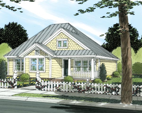 Traditional House Plan 66474 with 3 Beds, 2 Baths Elevation