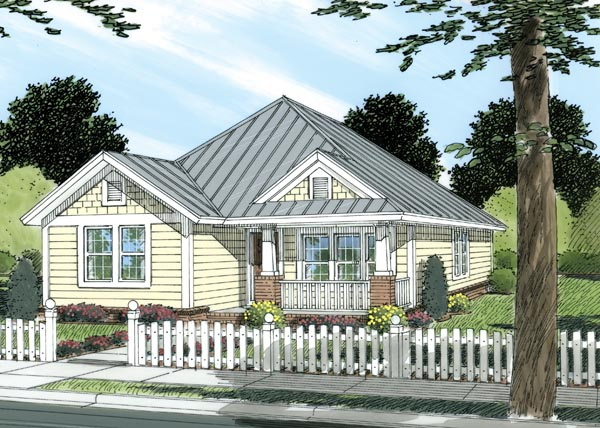 Cottage, Craftsman, Traditional House Plan 66478 with 3 Beds, 2 Baths Elevation