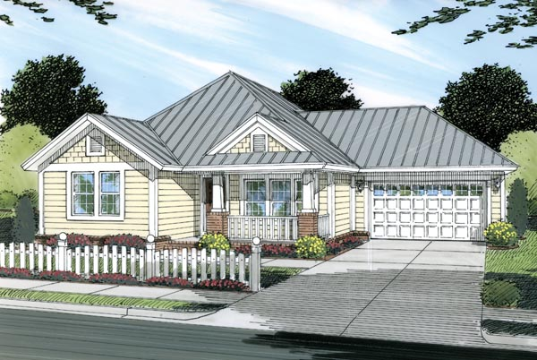 Cottage Craftsman Traditional House Plan 66479 Elevation