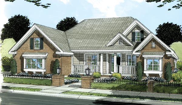 Traditional House Plan 66480 Elevation