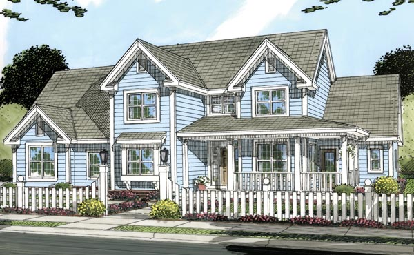 Farmhouse Southern Traditional House Plan 66481 Elevation