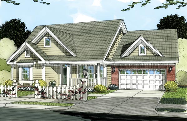 Traditional House Plan 66484 Elevation