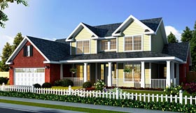 Country Farmhouse House Plan 66486 Elevation