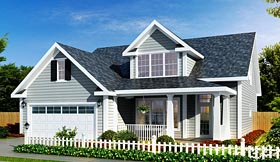House Plan 66487 | Traditional Style Plan with 1853 Sq Ft, 3 Bedrooms, 3 Bathrooms, 2 Car Garage Elevation
