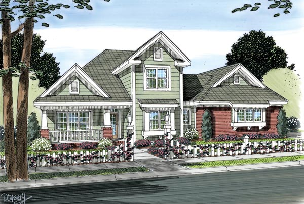 Traditional House Plan 66494 Elevation