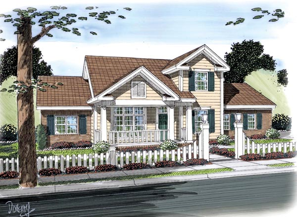 Traditional House Plan 66495 Elevation
