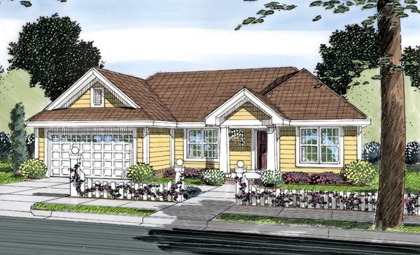 Traditional House Plan 66496 Elevation