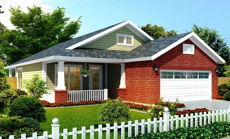 Bungalow Traditional House Plan 66499 Elevation