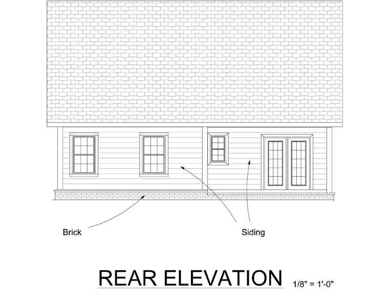 Cottage Traditional House Plan 66500 Rear Elevation