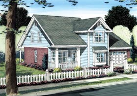 Traditional House Plan 66502 with 3 Beds, 3 Baths, 2 Car Garage Elevation