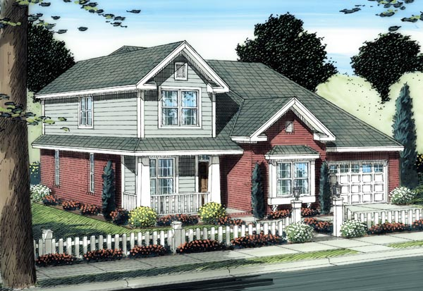 Traditional House Plan 66503 Elevation