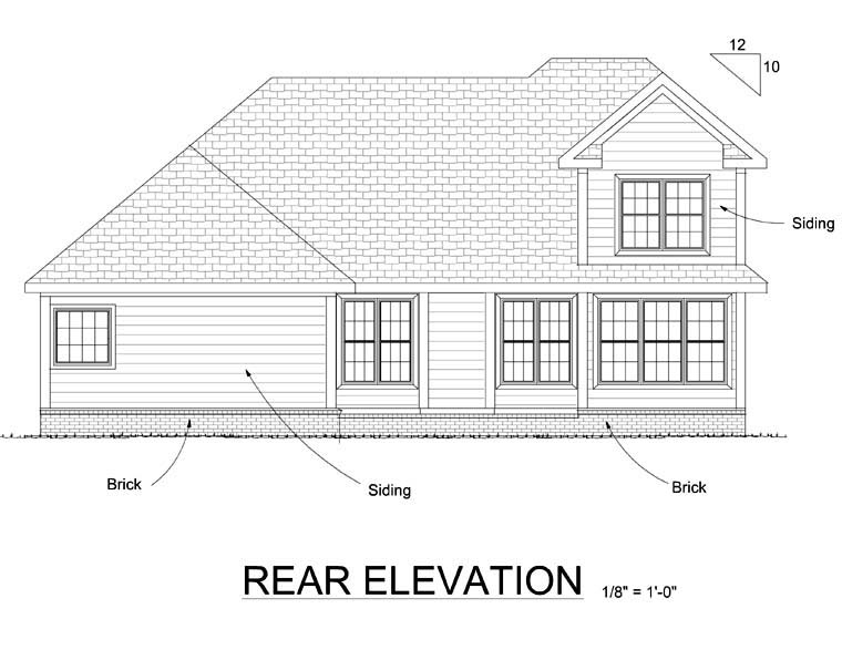 Traditional House Plan 66503 Rear Elevation