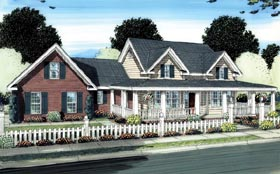 Country Southern House Plan 66504 Elevation