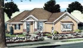 Cottage Traditional House Plan 66506 Elevation