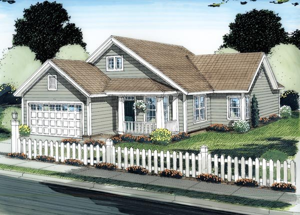 Traditional House Plan 66512 Elevation