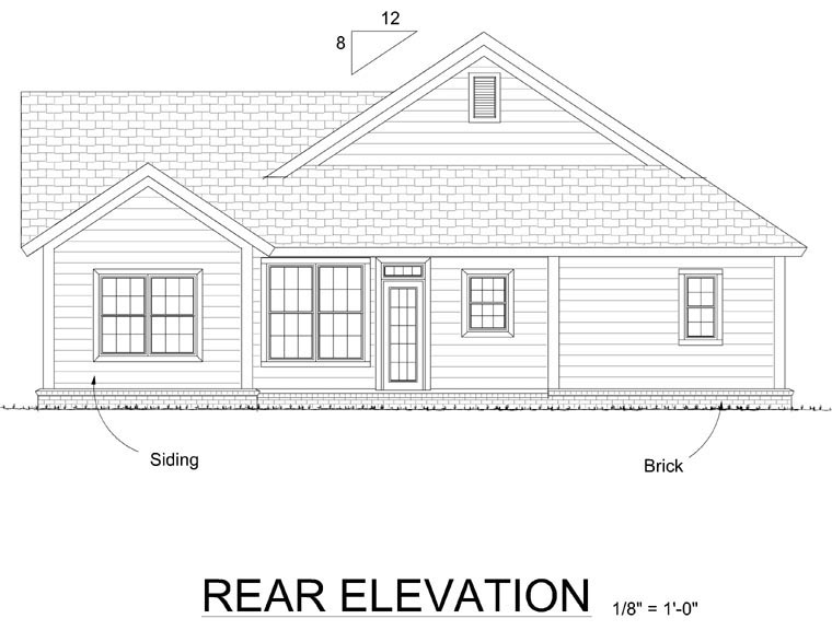 Traditional House Plan 66512 Rear Elevation