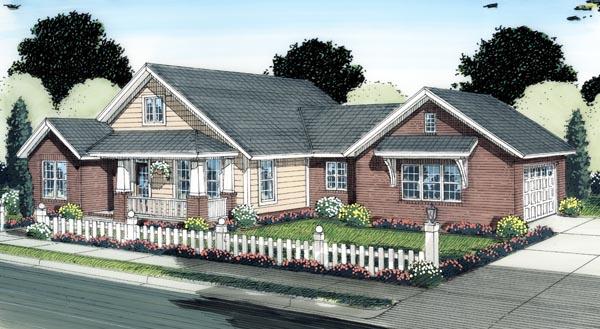 Bungalow Craftsman House Plan 66513 Elevation