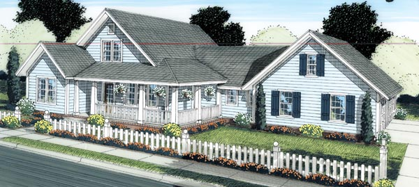 Country Farmhouse Traditional House Plan 66514 Elevation