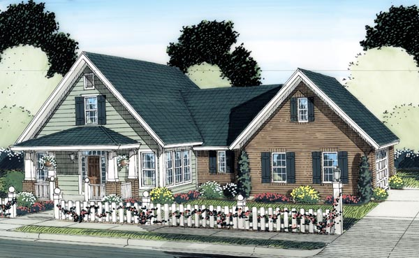 Cottage, Craftsman House Plan 66515 with 3 Beds, 3 Baths, 2 Car Garage Elevation
