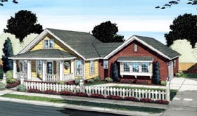 House Plan 66516 | Cottage Craftsman Style Plan with 1922 Sq Ft, 3 Bedrooms, 2 Bathrooms, 2 Car Garage Elevation