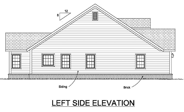 Traditional House Plan 66517 with 4 Beds, 2 Baths, 2 Car Garage Picture 1