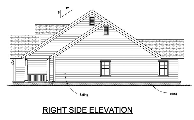 Traditional House Plan 66517 with 4 Beds, 2 Baths, 2 Car Garage Picture 2