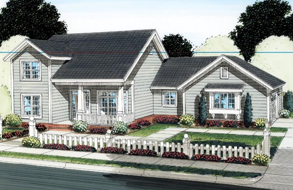 House Plan 66519 | Traditional Style Plan with 1897 Sq Ft, 3 Bedrooms, 3 Bathrooms, 2 Car Garage Elevation