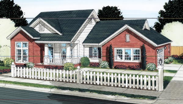 Craftsman Traditional House Plan 66520 Elevation