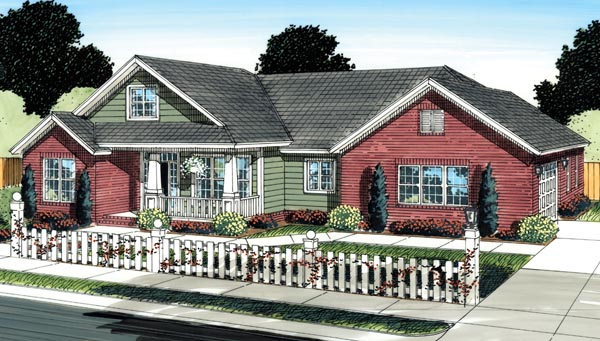 Traditional House Plan 66525 Elevation