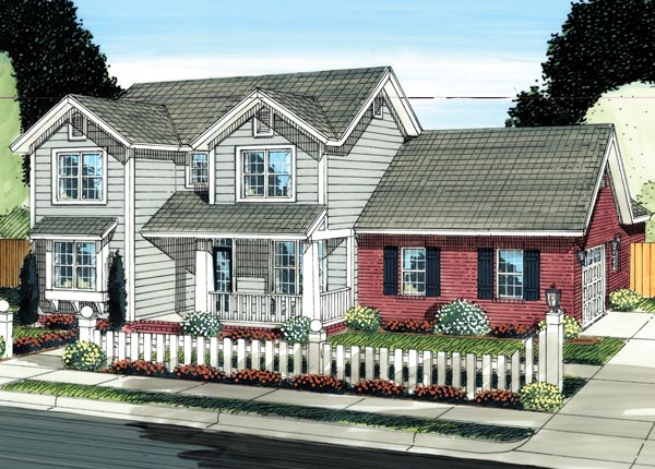 Traditional House Plan 66526 Elevation