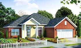 Traditional House Plan 66527 with 3 Beds, 2 Baths, 2 Car Garage Elevation