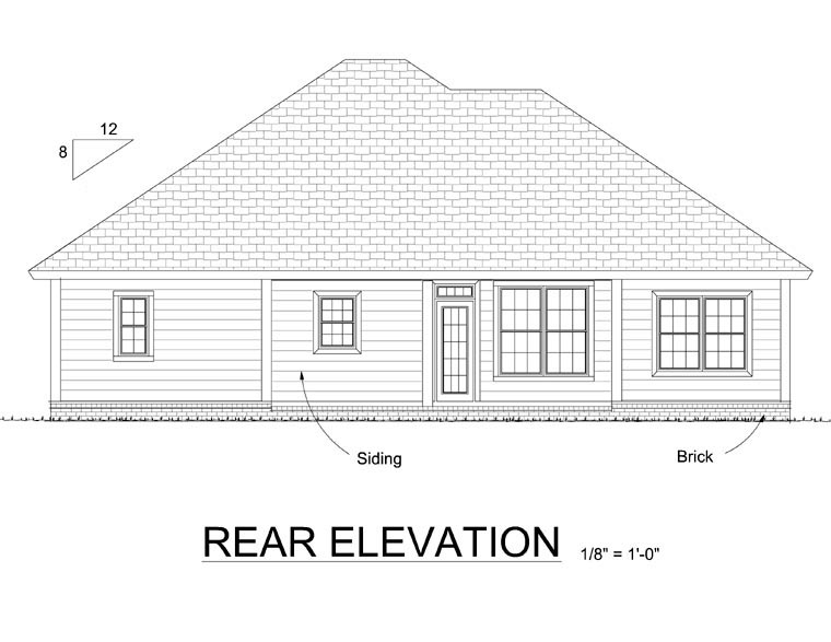 Traditional House Plan 66527 Rear Elevation