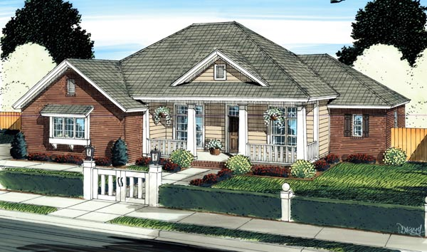 Traditional House Plan 66529 Elevation