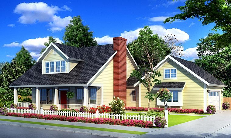 Cape Cod Country House Plan 66533 Elevation
