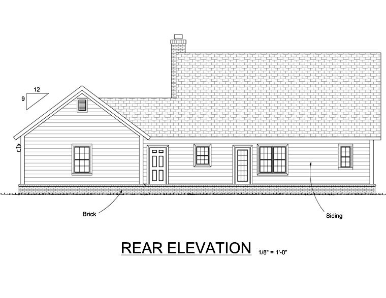 Cape Cod Country House Plan 66533 Rear Elevation