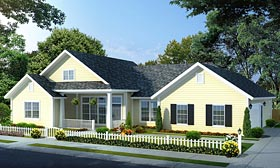 Traditional House Plan 66534 Elevation