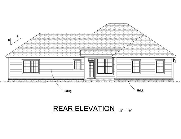 Contemporary House Plan 66535 Rear Elevation