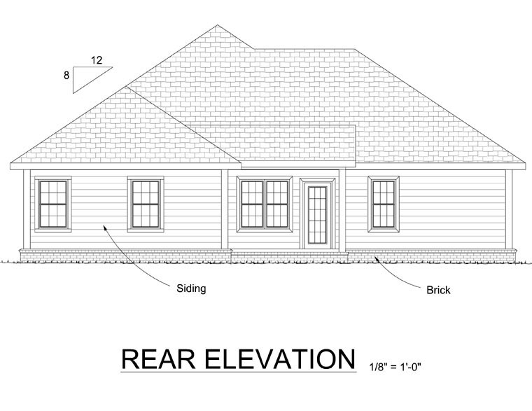 Traditional House Plan 66536 Rear Elevation