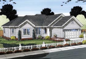 Traditional House Plan 66538 Elevation