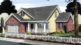 Traditional House Plan 66539 Elevation