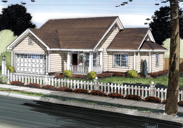 Traditional House Plan 66542 Elevation
