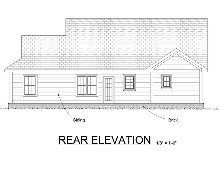 Traditional House Plan 66542 Rear Elevation