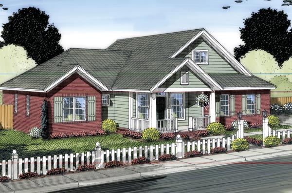 Country Traditional House Plan 66543 Elevation