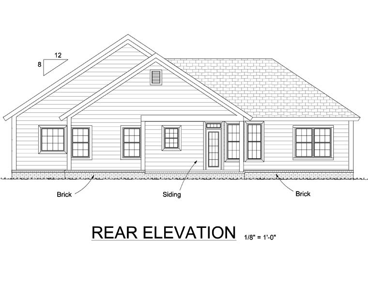 Country Traditional House Plan 66543 Rear Elevation