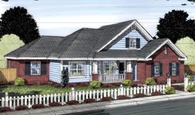 Traditional House Plan 66545 Elevation