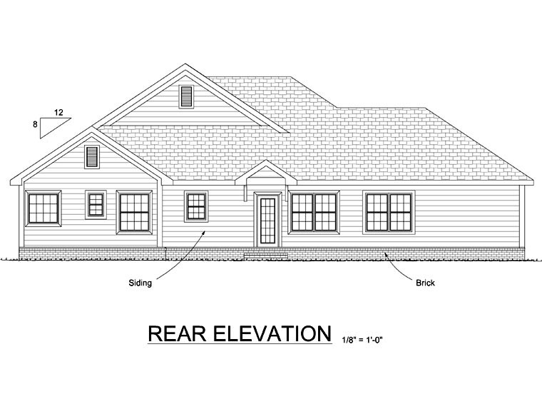 Traditional House Plan 66545 Rear Elevation